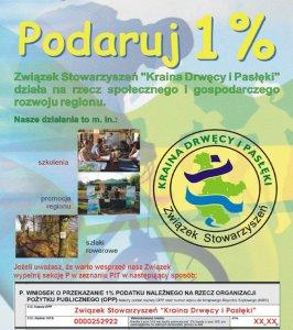 """1% dla Związku Stowarzyszeń """"Kraina Drwęca i Pasłęki"""""""
